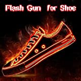 Flash Gun for Shoe / 靴用フラッシュガン フラッシュガン 靴火砲器 ストリートファイアマジック 舞台演出マジシャン道具 おしゃれ 凄いフレーム履物