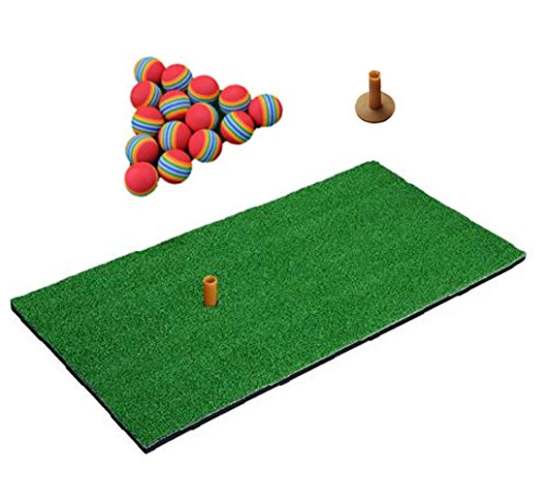 ゴルフ練習用マット ウレタンボール30個付 自宅 室内 練習用 人工芝 ゴルフ マット 30×60㎝
