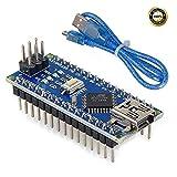 Pinbotronix Nano V3.0 ATmega328P Microコントローラボード NanoボードCH340Gチップ5V 16MHz 245mm USBケーブル Arduino Nano V3.0対応Arduino用