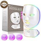 Project E Beauty Wireless 7 Color LED Mask Neck Photon Light Skin Rejuvenation Therapy Facial Skin Care Mask