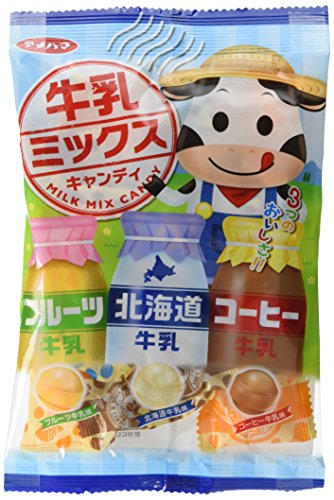アメハマ製菓 牛乳ミックスキャンディ 80g×10袋