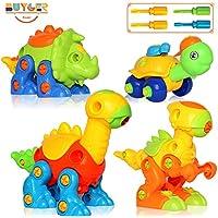 4個 組み立てDIY 恐竜 タートル おもちゃ 建設ゲーム 子供 赤ちゃん