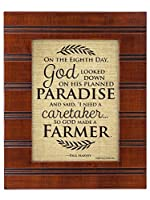 So God Made a Farmer on the Eigth Day木製仕上げ8 x 10センチメンタルFramed Art Plaque