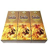 スマイル香スティック 3BOX(18箱) /ASOKA TRADING SMILE/インセンス/インド香 お香 [並行輸入品]