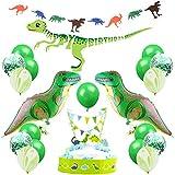 誕生日パーティー飾り 恐竜 男の子 子供 happy birthdayバナー 恐竜バルーン 瑪瑙 紙吹雪 ラテックスバルーン 可愛い動物 面白い飾り付け 100日 一歳 パーティーデコレーション