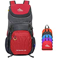 Hiking Backpack 40L Water Resistant Lightweight Packable Travel Daypack Trekking Bag for Outdoor Camping and Mountaineering