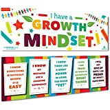 "Sproutbrite Classroom Banner Decorations for Educational & Motivational Growth Mindset for Students - 2 Banners - 13""x39"" Each"