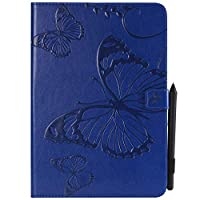 Samsung Galaxy Tab A 9.7 T550 - Protective アンチスクラッチ フラップ Leather Case/Cover / Bumper/Skin / Cushion - Fashion Art Collection (Blue)