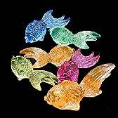アクリルアイス  金魚  蛍光クリア(1kg)  / お楽しみグッズ(紙風船)付きセット
