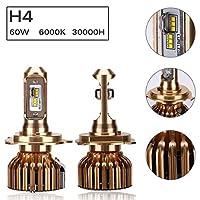 PUSHIDUN Car LED Headlight H4 H1 H7 H11 9005 9006 9012 360 Degrees 6000K 7200LM White Super Bright [並行輸入品]