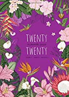 Twenty Twenty, Planner 2020 Hourly Weekly Monthly: A4 Large Journal Organizer with Hourly Time Slots | Jan to Dec 2020 | Tropical Flower Hummingbird Design Purple