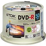 TDK 録画用DVD-R デジタル放送録画対応(CPRM) 1-16倍速 インクジェットプリンタ対応(ホワイト・ワイド…