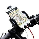 Airbibo 自転車ホルダー バイク用 スマホホルダー マウント携帯バイクスタンド ワンタッチ機能 6.0インチのスマホまで対応可能 スマートフォンiPhone 6s plus/Samsung Galaxy/Xperia//GPSナビに多機種対応 縦横回転可能 マウントキット 補強固定 脱落防止 簡単脱着
