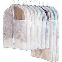 アストロ 洋服カバー 10枚組 スーツサイズ 7 枚 + ロングサイズ3枚 中身の見える透明窓付き 前開きファスナーで出し入れラクラク! 126-25