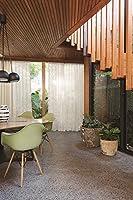 遮熱効果と素材感のあるしっかりしたシアー スミノエ カーテン1.5倍ヒダ D-7088 幅:250cm ×丈:100cm (2枚組)オーダーカーテン