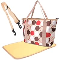 Babyhugs? Cute Design 3pcs Tote Nappy Changing Diaper Bag Set including Changing Mat - Large Spots by BabyHugs