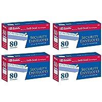 BAZIC No.6-3/4 Peel and Seal Security Envelope White 4 Pack of 80 Per Pack (573-24P) [並行輸入品]