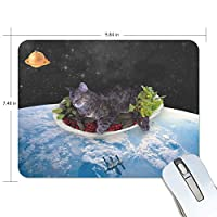 マウスパッド 猫 宇宙 ゲーミングマウスパッド 滑り止め 19 X 25 厚い 耐久性に優れ おしゃれ