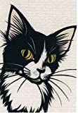 ねこの引出し 猫切り絵作家「さとうみよ」のポストカード「娘」