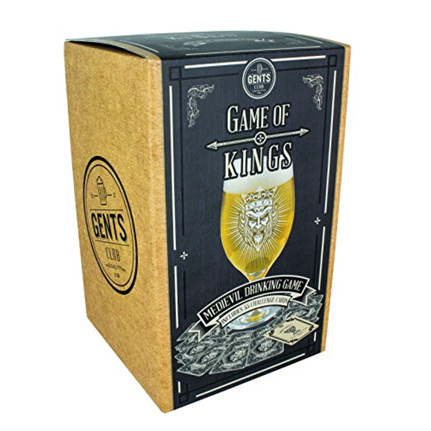 Paladone Game of Kings Beer Glass Card Game