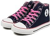(パーソンズ ジーンズ) PERSON'S JEANS 子供靴 ハイカットスニーカー 女の子 ジュニア 運動靴 PSJ-007 ネイビー/ピンク 22cm