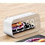 Havit Mini Bluetooth Wireless Small Sound,Portable Speakers,Phone Call,LED Full Screen,Alarm Clock,Temperature,Subwoofer (Pearl White)