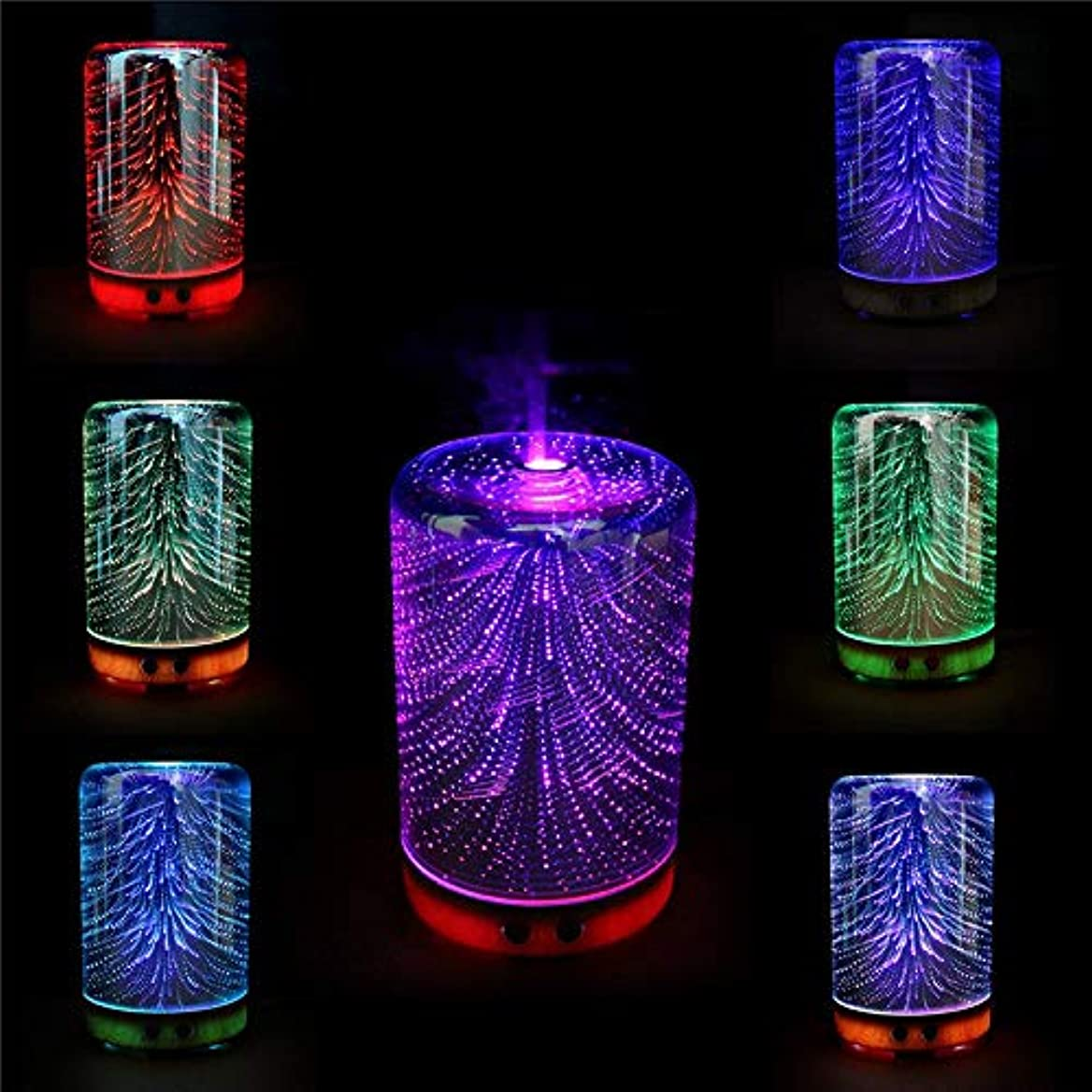 減衰アレルギー粒子Fishagelo Color Changing 3D Lighting Essential Oil Aroma Diffuser Ultrasonic Mist Humidifier Aromatherapy 141[...