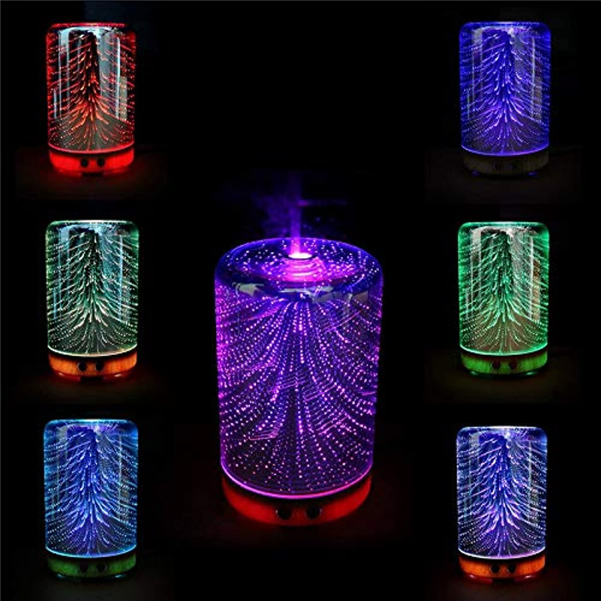 筋方向マーキーFishagelo Color Changing 3D Lighting Essential Oil Aroma Diffuser Ultrasonic Mist Humidifier Aromatherapy 141[...