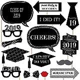 卒業式Cheers – 2018卒業写真ブース小道具キット – 20カウント