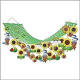 夏装飾 ひまわりサンサンプリーツハンガー L180cm / 向日葵 ヒマワリ 飾り ディスプレイ  7616
