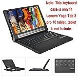 Lenovo YOGA Tab 3 Pro 10 Bluetooth キーボード ケース【KuGi】 一体型 脱着式 良質PUレザーケース付き Lenovo YOGA Tab 3 Pro 10.1 専用 Bluetooth キーボードケース 〈2点セット タッチペン付き〉 ( Lenovo YOGA Tab 3 Pro 10.1 , ブラック)
