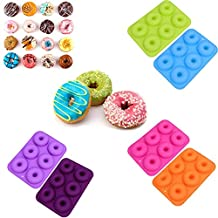 6 Colors Silicone Donut Mold Silicone Cake Mold Making Cake Snacks Non-toxic