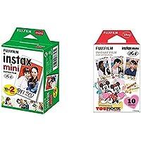 【セット買い】FUJIFILM インスタントカメラ チェキ用フィルム 20枚入 INSTAX MINI JP 2 & インスタントカメラ チェキ用フィルム10枚入 絵柄 (ミッキー&フレンズ) INSTAX MINI MIC WW 1