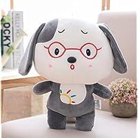 HuaQingPiJu-JP 柔らかいおもちゃ40cmの犬のぬいぐるみふわふわのぬいぐるみ犬子犬完璧な子供たちの子供のための贈り物(ピンク)