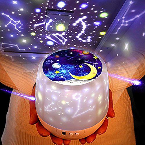 「2019最新版」スタープロジェクター ライト, Yorze 星空ライト 家庭用 プラネタリウム ライト雰囲気を作り 星空投影 多色変更可能 360度回転 USB 電池 兼用 寝かしつけ用品 誕生日ギフト – 6 セット投影映画