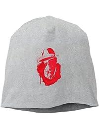【Dera Princess】メンズ レディース ニット帽 Red Is The Real Blackロゴ コットン ニットキャップ 帽子 オールシーズン 被れる