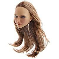 Dovewill  12インチ アクションフィギュア対応 プラスチック製  1/6スケール  ロングヘア ヘッド  女性  頭部  スカルプト  4色選べる - 16-22a