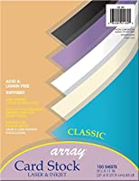 pacon array card stock 65 lbs letter black 100 sheets pack 並行