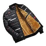 SemiAugust(セミオーガスト)メンズ 冬 防寒コート 保温 ブルゾン メンズアウター 迷彩柄 青年   裏起毛 防寒  暖かい 秋冬 男性用 カラーはブラック サイズは2XL