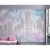 Wuyyii カスタム壁紙3D壁画水彩背景ステレオ抽象的な幾何学的な市テレビの壁紙紙の家の装飾3Dの壁紙-120X100Cm