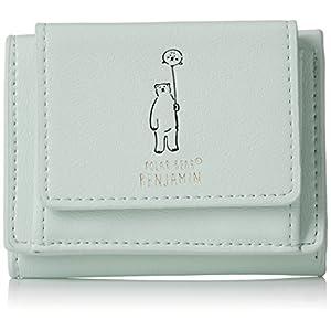 [アネロ] ミニ財布 【POLAR BEAR BENJAMIN】 シンプルプリント三つ折ミニ財布 AS-C2361 MGR ミントグリーン