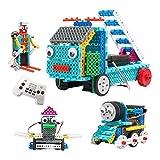 FlyCreat ブロックおもちゃ 積み木 立体パズル 4IN1変形ロボット 170ピース 組立ておもちゃ 電動組立てロボットキット DIY知育玩具 おもちゃ 3Dモデル 男の子のおもちゃ 列車 消防車 鴨 スキーロボット リモートコントロール バッテリーモーターが運営する プラスチック製 安全 想像力育成 自由研究 科学 夏休み 贈り物 子供誕生日祝い プレゼント 児童 ギフト カラフル
