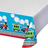 All Aboard Plastic Tablecover Border Print