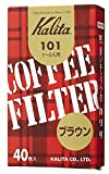 カリタ Kalita コーヒーフィルター 101濾紙 箱入り 1~2人用 40枚入り ブラウン #11141