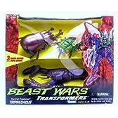 Transformers Beast Wars Evil Predacon Tripredacus (Includes Cicadacon, Ram Horn and Sea Clamp)