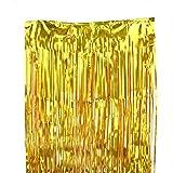 【SRrabbit】キラキラ タッセルカーテン パーティー ウェディング 学園祭 デコレーション イベント 装飾 金色