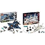 レゴ(LEGO) スーパー・ヒーローズ  アベンジャーズ・アルティメット・クインジェット 76126 ブロック おもちゃ 男の子 &  スーパー・ヒーローズ  スターク・ジェットとドローン攻撃 76130 マーベル ブロック おもちゃ 男の子【セット買い】