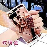 女の子レディースミラーの携帯電話のケースクマの指のホルダーソフトケース for iphone 6/6s/6pus/7/7pus Mirror Bear Finger iPhone Case (iphone6 plus, rose gold)