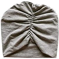 WARMSHOP 新生児用帽子 男の子 女の子用 柔らかい 100%オーガニック 無地 フリル付き 調節可能なノットハット 幼児用ビーニー Regular ピンク
