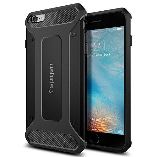 【Spigen】 iPhone6s Plus ケース / iPhone6 Plus ケース, カプセル ウルトラ ラギッド [ 米軍MIL規格取得 落下 衝撃 吸収 ] アイフォン6s プラス / 6 プラス 用 耐衝撃カバー (ブラック SGP11643)